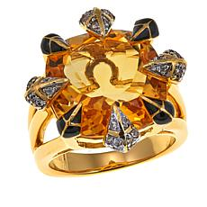Rarities Citrine and White Zircon Ring