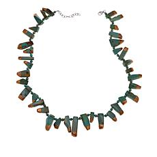 "Rarities Freeform Copper-Dipped Turquoise 18-3/4"" Necklace"