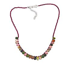 "Rarities Garnet Bead and Multicolored Tourmaline 18"" Necklace"