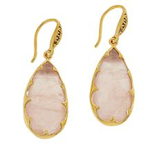 Rarities Gold-Plated Gem and Diamond-Accented Pear Drop Earrings