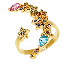 Rarities Gold-Plated Multigem Celestial Ring