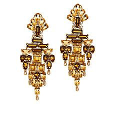Rarities Gold-Plated Multigem Chandelier Earrings