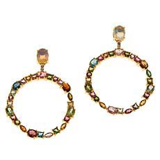 Rarities Gold-Plated Opal, Zircon and Tourmaline Hoop Earrings