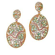 Rarities Gold-Plated Pink Sapphire, Green Kyanite and Zircon Earrings