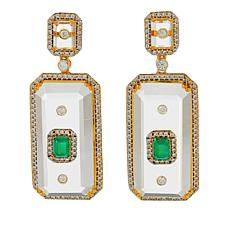 Rarities Gold-Plated Rock Crystal Multi-Gemstone Drop Earrings