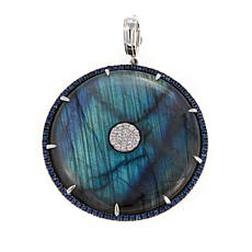 Rarities Labradorite & Gem Disc-Shaped Enhancer Pendant