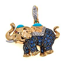 Rarities: Multi-Gem Elephant Enhancer Pendant