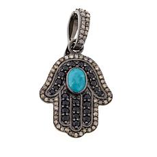 Rarities Multi-Gem Hamsa Hand Enhancer Pendant