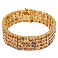 Rarities Multicolored Sapphire 4-Row Line Bracelet