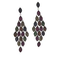 Rarities Multicolored Sapphire and Tsavorite Cascading Drop Earrings