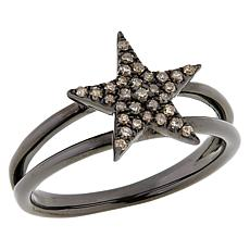 Rarities Sterling Silver Diamond Star Ring