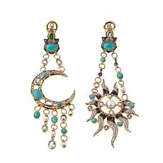 Rarities Vermeil Multigem Sun and Moon Drop Earrings
