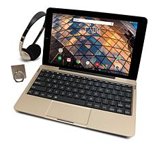 """RCAPremier 10.1"""" 64GB HD IPS Quad-Core Android Tablet with Keyboard"""