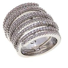 Real Collectibles Look of Multiples 3.34ctw Diamonite CZ Spiral Ring