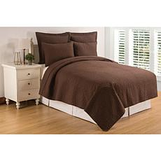Regent Cocoa Twin Quilt Set