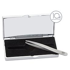 Regine Slant Tip Tweezers and Mirrored Compact