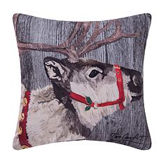 Reindeer Indoor  Outdoor Pillow