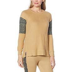 Retreat by Rhonda Shear Knit Lounge Sweatshirt Top