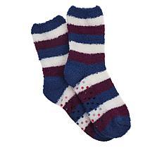 Retreat by Rhonda Shear Striped Marshmallow Slipper Socks