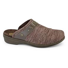 Revitalign Monterey Heathered Textile Clog with Leather Trim & Rivets