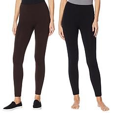 Rhonda Shear 2-pack Fleece-Lined Legging