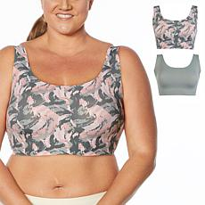 Rhonda Shear 2-pack Invisible Body Bra with Removable Pads
