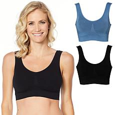 Rhonda Shear 2-pack Seamless Modal Bra with Removable Pads