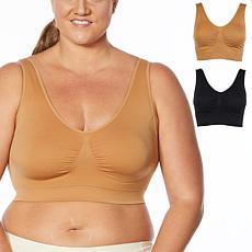 Rhonda Shear 2-pack Skintone Seamless Ahh Bra