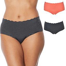 Rhonda Shear 2-pack Striped Body Brief