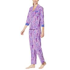 Rhonda Shear 2-piece Printed Long-Sleeve Lounge Set