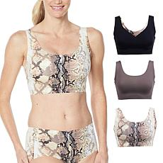 Rhonda Shear 3-pack Body Bra with Removable Pads