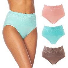 Rhonda Shear 3-pack Lace Overlay Brief