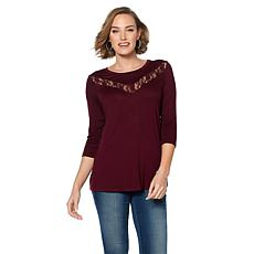 Rhonda Shear Lace Inset Top