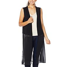 Rhonda Shear Mixed Media Duster Vest