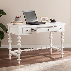 Ricardo Turned-Leg Writing Desk - White