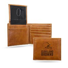 Rico Browns Laser-Engraved Brown Billfold Wallet