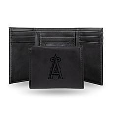 Rico Laser-Engraved Black Tri-fold Wallet - Angels