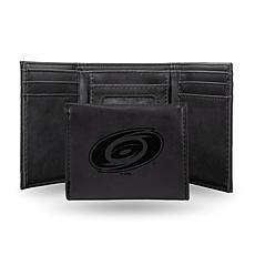 Rico Laser-Engraved Black Tri-fold Wallet - Hurricanes
