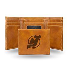 Rico Laser-Engraved Brown Tri-fold Wallet - Devils
