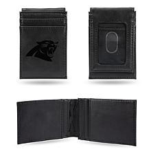 Rico  Panthers Laser-Engraved Black Front Pocket Wallet