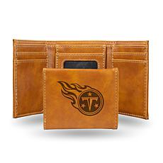 Rico Titans Laser-Engraved Brown Trifold Wallet