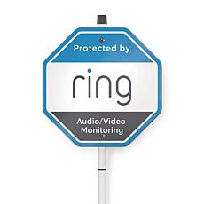Ring Security Yard Sign with Custom Doorbell Faceplate Voucher