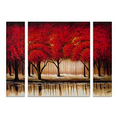 "Rio ""Parade of Red Trees II"" Multi-Panel Art Set - 30"" x 41"""
