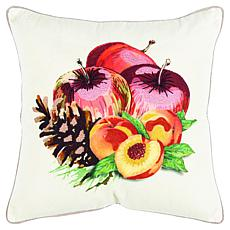 """Rizzy Home Fruits & Pinecone 20"""" x 20"""" Decorative Throw Pillow"""
