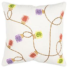 "Rizzy Home ""String of Lights"" 20"" x 20"" Decorative Throw Pillow"