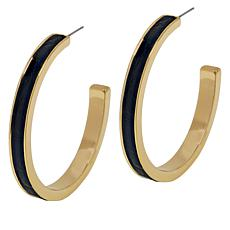 R.J. Graziano Animal Print Hoop Earrings