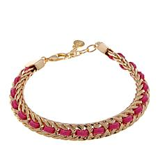 "R.J. Graziano ""Bright Idea"" Suede and Braid  Bracelet"