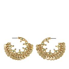 R.J. Graziano Disc Dangle Drop Earrings