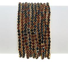 "R.J. Graziano ""Easy Glow"" 10-piece Stretch Bracelet Set"