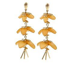 "R.J. Graziano ""Fresh Picks"" Triple Flower Drop Earrings"